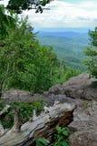 Blue Ridge mountain Scene -  Trail. Mountains in Shenandoah National Park. From the Appalachian Trail Stock Photos