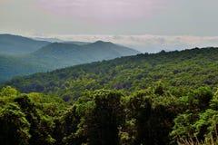 Blue Ridge mountain Scene -Vista. Mountains in Shenandoah National Park Stock Photography