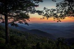Blue Ridge Mountain Skyline View stock images