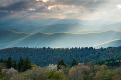 Blue Ridge Mountain Spring Scenic Ridge Overlook Royalty Free Stock Photos