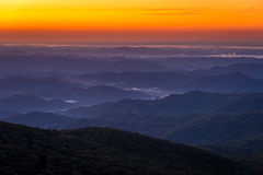 Blue Ridge Mountain Sunrise Stock Photo