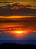 Blue Ridge Mountain Sunset Stock Images