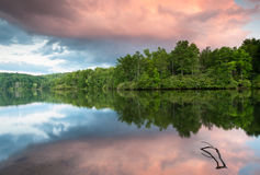 Blue Ridge Mountain Sunset Reflections Price Lake Stock Photos
