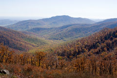 Blue Ridge Mountains. Photographed from the Shenandoah National Park, Virginia royalty free stock image