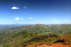 Blue Ridge Mountains. View of the Blue Ridge Mountains during fall season from Brasstown Bald, the highest elevation in the state of Georgia, USA Royalty Free Stock Photography