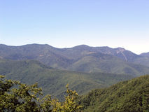 Blue ridge mountains. Mountains royalty free stock photo