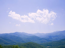 Blue Ridge Mountains. A bright sunny day in the Blue Ridge mountains of North Carolina Royalty Free Stock Photo