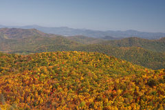 Blue Ridge Mountains. In North Carolina in Autumn Royalty Free Stock Images