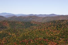 Blue Ridge Mountains in Autumn Royalty Free Stock Photography