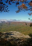 Blue Ridge Mountains in Autumn. Blue Ridge Mountains view from Blowing Rock, NC in fall Stock Photos