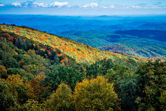 Blue Ridge Mountains and Blue Ridge Parkway Royalty Free Stock Photo