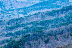 Blue Ridge Mountains in the Chattahoochee National Forest Royalty Free Stock Photos