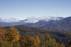 Blue Ridge Mountains and Clouds Stock Photo