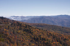 Blue Ridge Mountains and Clouds Royalty Free Stock Photos