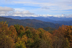 Blue Ridge Mountains with Clouds Royalty Free Stock Image
