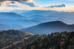 Blue Ridge Mountains Cowee Overlook Stock Photography