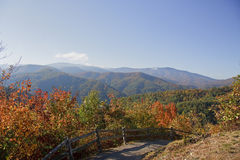 Blue Ridge Mountains in the Fall Stock Photo
