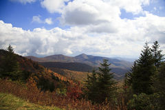 Blue Ridge Mountains in the Fall Royalty Free Stock Photos