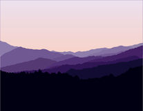 Blue Ridge Mountains Landscape Stock Photography