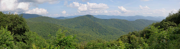 Blue Ridge Mountains Panorama Royalty Free Stock Photos