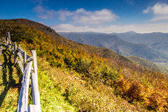 Blue Ridge Mountains Scenic Overlook Royalty Free Stock Images
