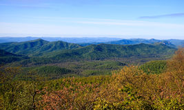 Blue ridge mountains in spring Stock Photography