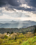 Blue Ridge Mountains Sun Rays NC Stock Photography