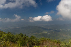 The Blue Ridge Mountains of Virginia. Taken from the Skyline Drive in the Shenandoah National Park Stock Images