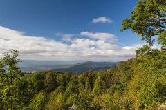 The Blue Ridge Mountains of Virginia. Taken from the Skyline Drive in the Shenandoah National Park Stock Image