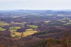 Blue Ridge Mountains, Virginia. View from an overlook located along the Blue Ridge Parkway near Roanoke, Virginia Stock Photos
