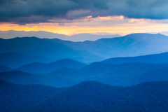 Blue Ridge Mountains Western North Carolina Stock Photo