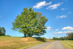 Blue Ridge Parkway. The Blue Ridge Parkway on a Clear Summer Day stock photos