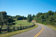 Blue Ridge Parkway. The Blue Ridge Parkway on a Clear Summer Day royalty free stock photo