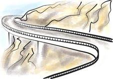 blue ridge parkway ilustracja wektor
