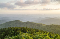 Blue Ridge Parkway Appalachian Mountain Vista Asheville NC Royalty Free Stock Photo
