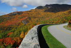 Blue Ridge Parkway Autumn Grandfather Mountain Stock Image