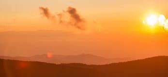 Blue Ridge Parkway Autumn over Appalachian Mountains Royalty Free Stock Photo