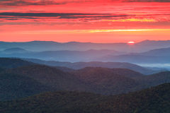Blue Ridge Parkway Autumn Sunrise Appalachian Mtn  Stock Photos