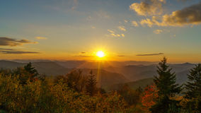 Sunset on the Blue Ridge Parkway royalty free stock photos