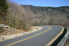 Blue Ridge Parkway Curve Royalty Free Stock Photo