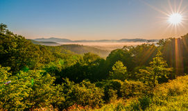 Blue ridge parkway early morning Royalty Free Stock Photos