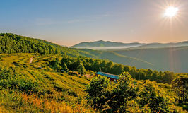 Blue ridge parkway early morning Royalty Free Stock Images
