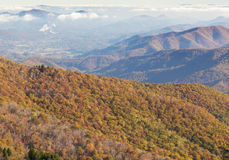 Blue Ridge Parkway Fall Colors In North Carolina Royalty Free Stock Images