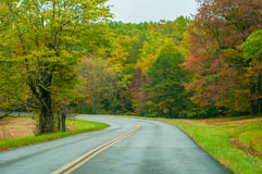 Blue Ridge Parkway in the Fall Royalty Free Stock Photography
