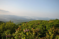 Blue Ridge Parkway hills Stock Image