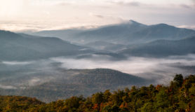 Blue Ridge Parkway morning Royalty Free Stock Images