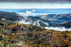 Blue Ridge Parkway National Park Sunrise Scenic Mountains Autumn Stock Photos