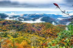 Blue Ridge Parkway National Park Sunrise Scenic Mountains Autumn Royalty Free Stock Images