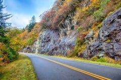 Blue Ridge Parkway National Park Sunrise Scenic Mountains Autumn Royalty Free Stock Photography