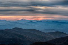 Blue Ridge Parkway National Park Sunset Scenic Mountains Stock Photos